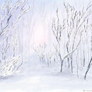Картины и панно ручной работы. Ярмарка Мастеров - ручная работа Снег идет. Handmade.