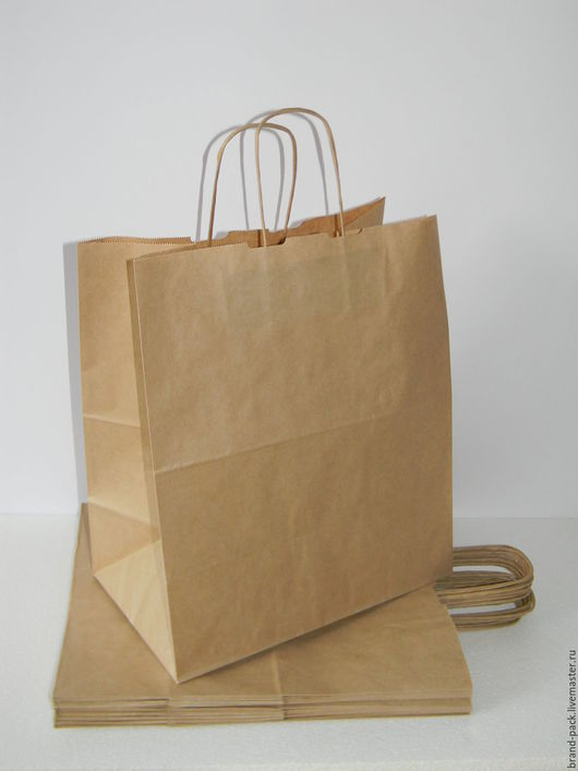Упаковка ручной работы. Ярмарка Мастеров - ручная работа. Купить Крафт пакет, 37x32x20 см. Handmade. Коричневый, крафт-пакет