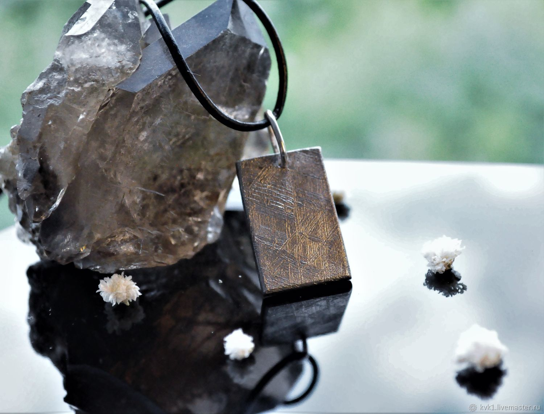 Muonionalusta iron meteorite pendant ' Shield', Pendant, Moscow,  Фото №1