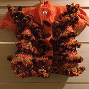 Работы для детей, ручной работы. Ярмарка Мастеров - ручная работа Пальто и сапожки вязанные для девочки. Handmade.
