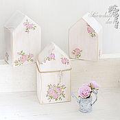 Для дома и интерьера ручной работы. Ярмарка Мастеров - ручная работа Интерьерные домики Розочки в стиле шебби. Handmade.