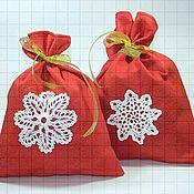 Мешочки для подарков ручной работы. Ярмарка Мастеров - ручная работа Новогодний мешочек для подарков. Handmade.