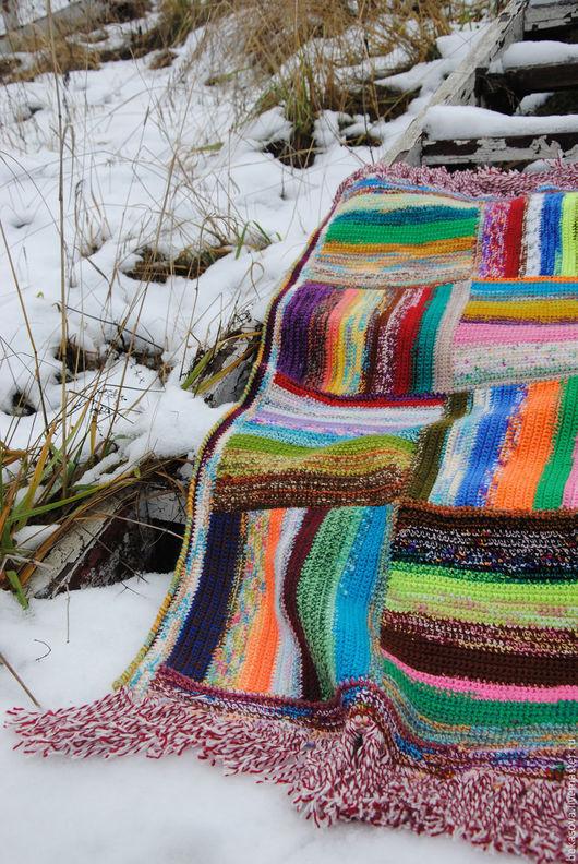"""Текстиль, ковры ручной работы. Ярмарка Мастеров - ручная работа. Купить Бабушкин коврик """"Пэчворк"""". Handmade. Коврик, коврики, разноцветный"""