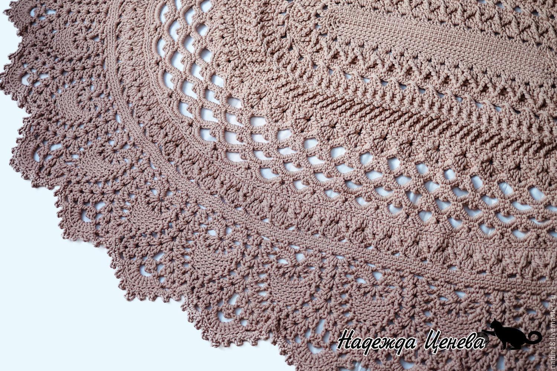 Схема ковров крючком из шнура схемы и