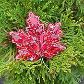 Украшения handmade. Livemaster - original item Maple leaf. Handmade.