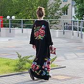 Одежда ручной работы. Ярмарка Мастеров - ручная работа Пальто вязанное с розами. Handmade.