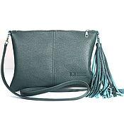 Сумки и аксессуары handmade. Livemaster - original item Clutch shoulder Bag with strap, pocket and tassel. Handmade.