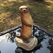 handmade. Livemaster - original item Aynsley statuette otter England, 1975. Handmade.