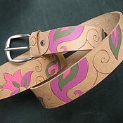 Аксессуары handmade. Livemaster - original item CLOSER TO INDIA strap leather. Handmade.