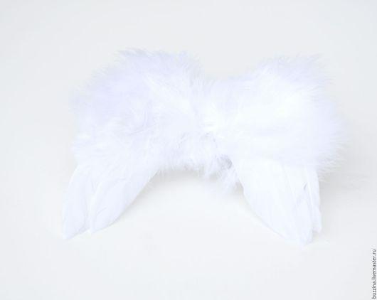 Аксессуары для фотосессий ручной работы. Ярмарка Мастеров - ручная работа. Купить Крылья ангела из перьев для фотосессии новорожденных. Handmade. Белый