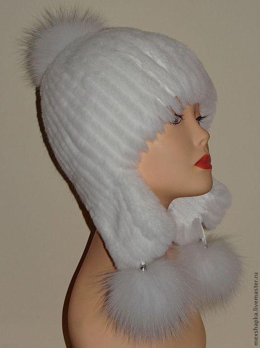 Шапки ручной работы. Ярмарка Мастеров - ручная работа. Купить Шапка Северянка из кролика. Handmade. Мех кролика, зимняя шапка