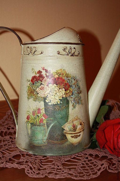 """Лейки ручной работы. Ярмарка Мастеров - ручная работа. Купить Лейка """"Очарование"""". Handmade. Мятный, лейка для полива цветов"""
