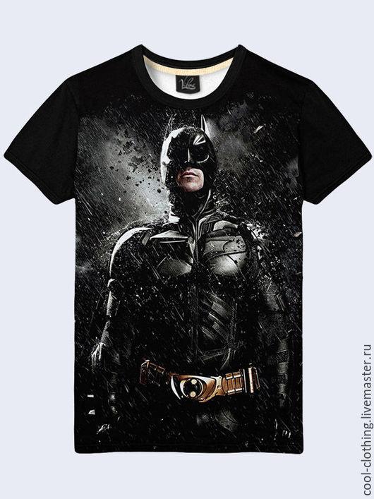"""Футболки, майки ручной работы. Ярмарка Мастеров - ручная работа. Купить Мужская футболка """"Бэтмен"""". Handmade. Рисунок, футболка, майка"""