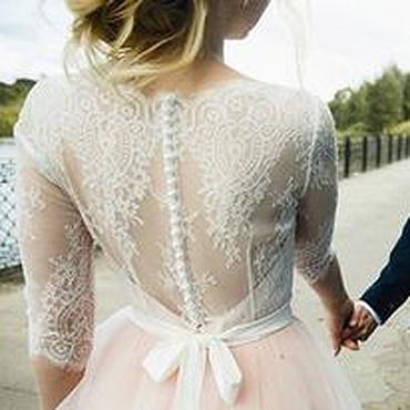 Свадебный салон ручной работы. Ярмарка Мастеров - ручная работа Зефирное свадебное платье для Лены. Handmade.