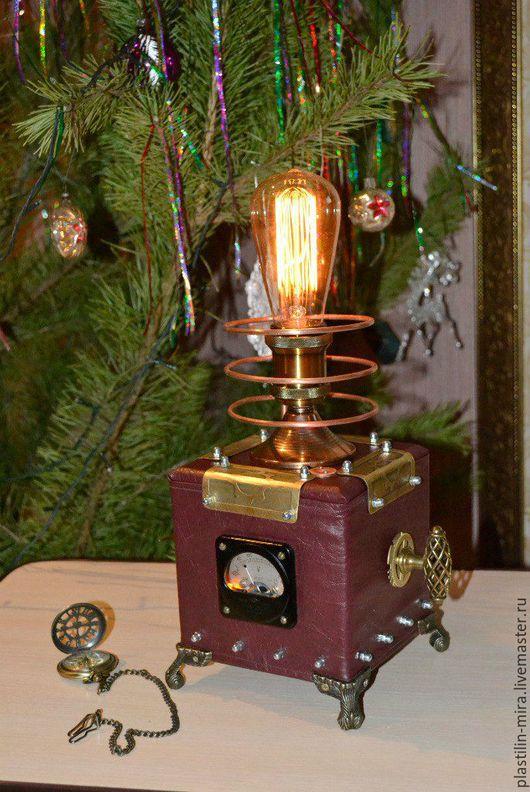 Освещение ручной работы. Ярмарка Мастеров - ручная работа. Купить стимпанк лампа. Handmade. Стимпанк, освещение ручной работы