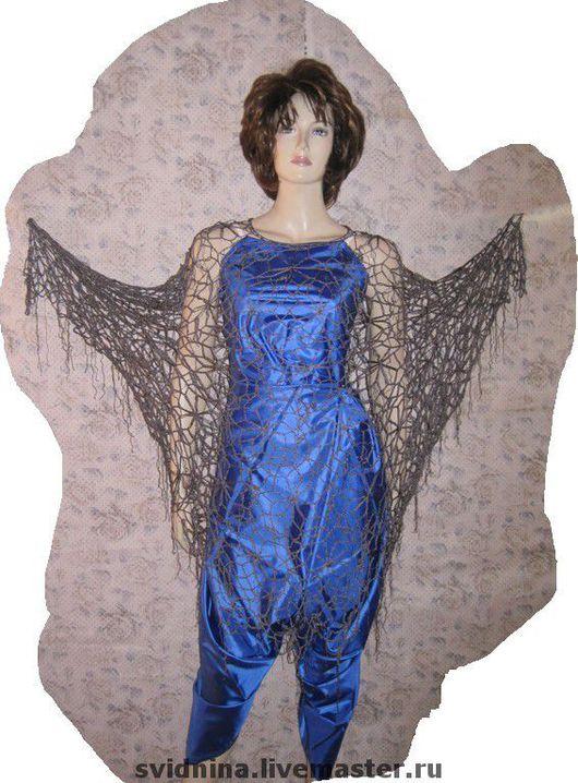 Платья ручной работы. Ярмарка Мастеров - ручная работа. Купить платье-накидка Ночной сад. Handmade. Ажурное платье, капрон