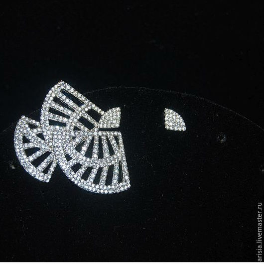 Винтажные украшения. Ярмарка Мастеров - ручная работа. Купить Серьги Flamenco ассиметричные серебро 925, цирконы. Handmade. Серебряный, flamenco