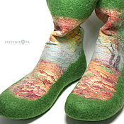 Обувь ручной работы handmade. Livemaster - original item Felted socks handmade seasons. Handmade.