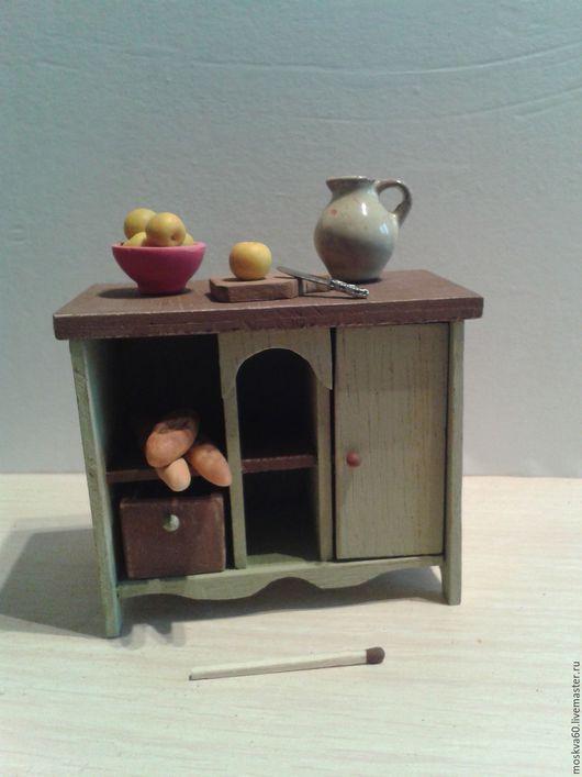 """Кукольный дом ручной работы. Ярмарка Мастеров - ручная работа. Купить Тумба для кукольного дома большая """"Оливковое настроение"""". Handmade."""