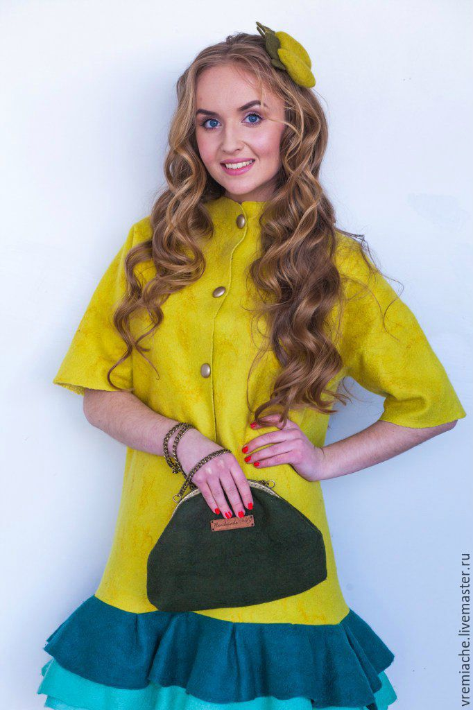 Felt dress 'Lemon Doll', Dresses, Minsk,  Фото №1