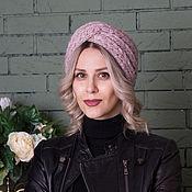 """Аксессуары handmade. Livemaster - original item Knitted bandage with sequins """"Winter Lavender"""". Handmade."""