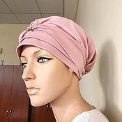 Одежда ручной работы. Ярмарка Мастеров - ручная работа Стильный розовый тюрбан.. Handmade.