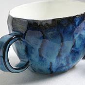 Посуда ручной работы. Ярмарка Мастеров - ручная работа Чашка керамическая с гранями. Handmade.