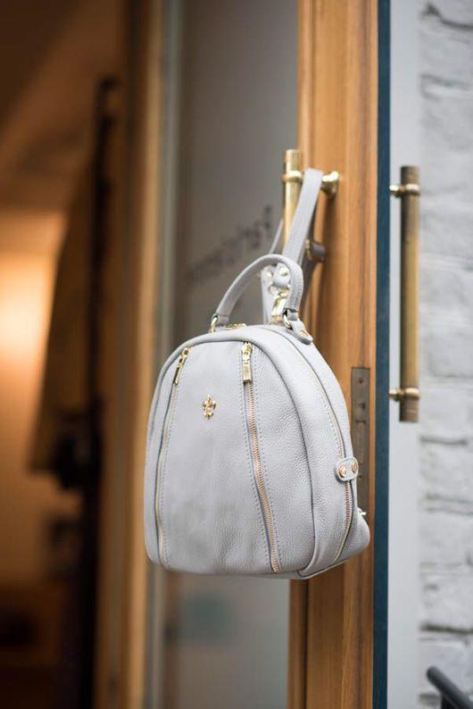 Рюкзаки ручной работы. Ярмарка Мастеров - ручная работа. Купить Кожаный рюкзак Note. Handmade. Тёмно-синий, рюкзак городской