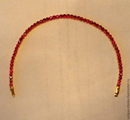 Браслеты ручной работы. Ярмарка Мастеров - ручная работа. Купить Золотой браслет с природными рубинами. Handmade. Ярко-красный
