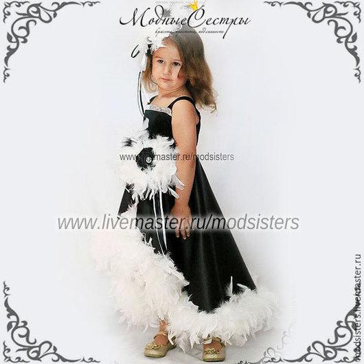 """Одежда для девочек, ручной работы. Ярмарка Мастеров - ручная работа. Купить Платье """"Монро"""" Арт.138/2. Handmade. Чёрно-белый"""