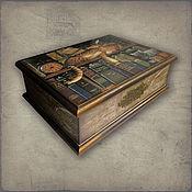 Шкатулка  Читатели (шкатулка для документов, рукоделия)