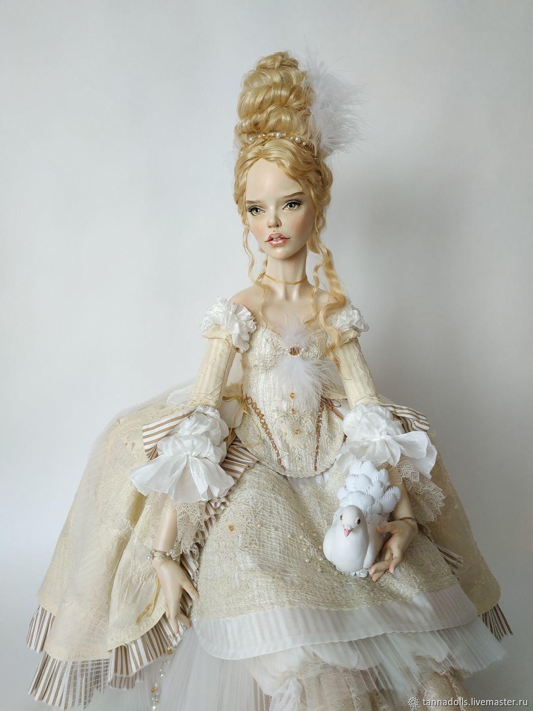 Моя Голубка. 94 см. Коллекционная интерьерная будуарная кукла, Интерьерная кукла, Москва,  Фото №1