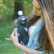Куклы и игрушки ручной работы. Ярмарка Мастеров - ручная работа Крысенок Реми. Handmade.