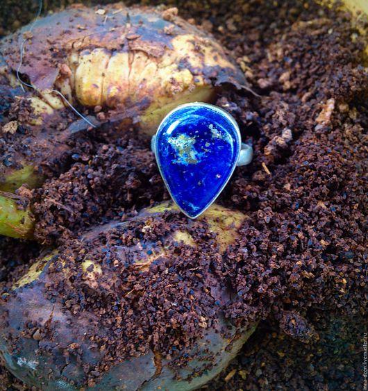 Комплекты украшений ручной работы. Ярмарка Мастеров - ручная работа. Купить Кольцо и серьги с лазуритом. Handmade. Тёмно-синий