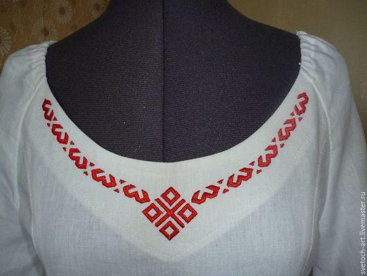 Одежда ручной работы. Ярмарка Мастеров - ручная работа. Купить Праздничное женское платье. Handmade. Белый, славянские символы