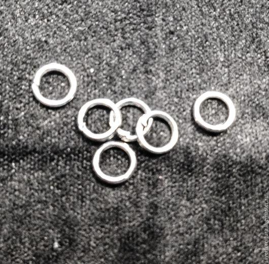 Для украшений ручной работы. Ярмарка Мастеров - ручная работа. Купить Серебро925: Кольцо разъемное 4-6 мм, 1 шт. Handmade.