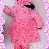 Работы для детей, handmade. Livemaster - original item Crochet set for girl