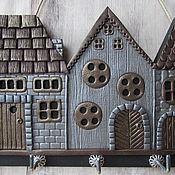 Для дома и интерьера handmade. Livemaster - original item The Housekeeper Of The Golden City 2.The housekeeper wall. decor polymer clay.. Handmade.