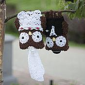 Куклы и игрушки ручной работы. Ярмарка Мастеров - ручная работа Свадебные совы. Handmade.