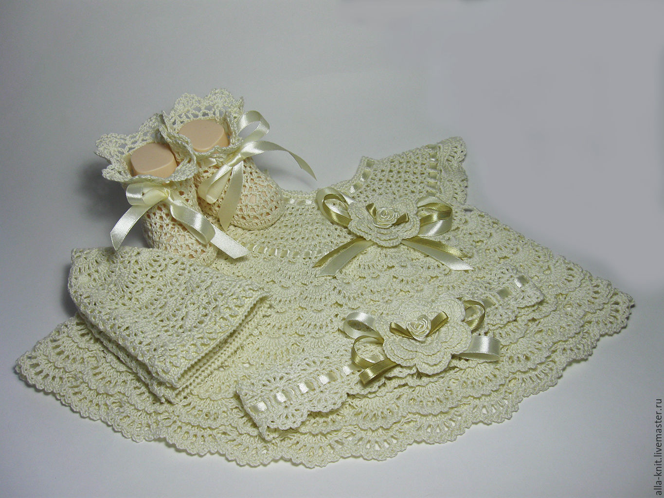 Knit set for baby to be discharged or Christening, Baby Clothing Sets, Shahty,  Фото №1