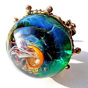 Украшения handmade. Livemaster - original item Ring Mysterious world in the technique of lampwork.. Handmade.