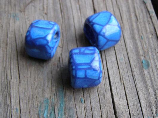 Для украшений ручной работы. Ярмарка Мастеров - ручная работа. Купить Керамическая бусина для regaliz (регализ) голубая рег237. Handmade.