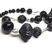 Украшения handmade. Livemaster - original item The necklace is a Bit boho in black. Author porcelain, jet NAT., silver 925. Handmade.