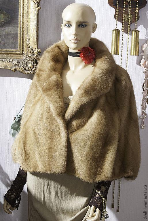 Болеро, шраг ручной работы. Ярмарка Мастеров - ручная работа. Купить Гламур бохо, штола, накидка, норка соболь ,платье в подарок. Handmade.