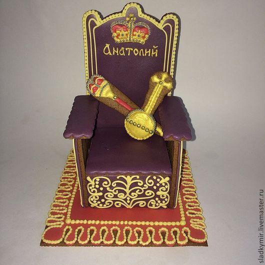 Кулинарные сувениры ручной работы. Ярмарка Мастеров - ручная работа. Купить Пряничный трон. Handmade. Фиолетовый, трон, подарок шефу