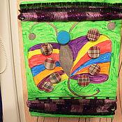 """Картины и панно ручной работы. Ярмарка Мастеров - ручная работа панно """"Бабочка Радости"""". Handmade."""