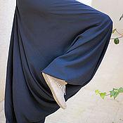Одежда ручной работы. Ярмарка Мастеров - ручная работа Синие шаровары. Handmade.