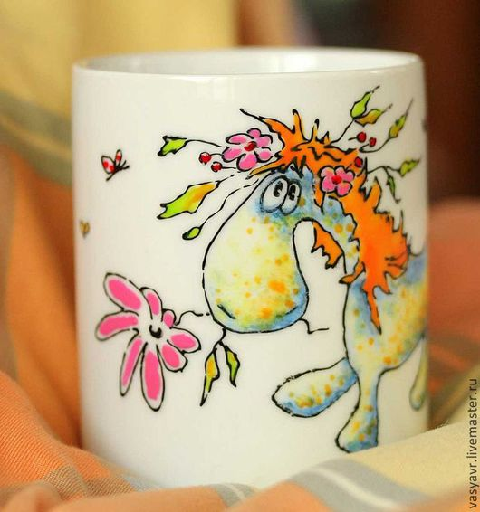 Кружки и чашки ручной работы. Ярмарка Мастеров - ручная работа. Купить Лошадка Юппи. Handmade. Лошадь, жеребенок