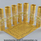 Приглашения ручной работы. Ярмарка Мастеров - ручная работа Приглашение-свиток Золотая классика. Handmade.