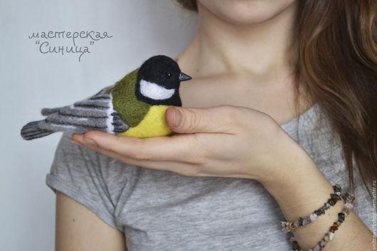 Игрушки животные, ручной работы. Ярмарка Мастеров - ручная работа. Купить Синица. Интерьерная птица. Handmade. Синица, птица, Паперклей
